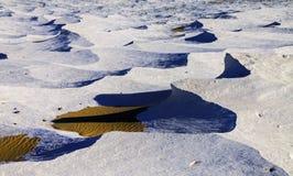 Египетская белая панорама ландшафта горных пород пустыни Стоковое Изображение