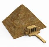 египетская белизна пирамидки Стоковое фото RF