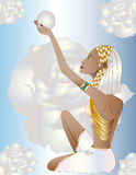 Египетская женщина иллюстрация вектора