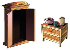 Египетская мебель Стоковые Фото