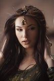Египетская принцесса Cleopatra в пустыне Стоковые Изображения RF