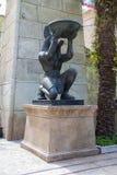 Египетская скульптура Anubis античной культуры стоковое фото