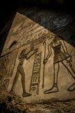 Египетская стена иероглифа Стоковые Изображения RF