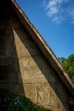 Египетская стена иероглифа Стоковое Изображение RF