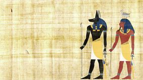 Египетские боги Anubis и Geb сток-видео