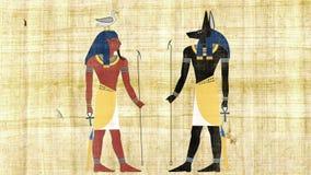 Египетские боги Anubis и Geb акции видеоматериалы
