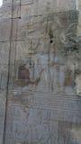 Египетские гравировки древнего храма дальше Стоковое Изображение RF