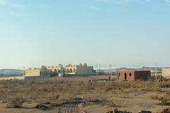 Египетские дома в похожее на пустын малом Стоковая Фотография RF