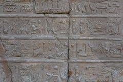 Египетские старые иероглифы на каменной стене стоковые фото
