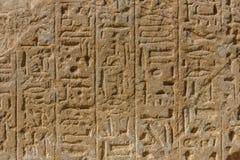Египетские старые иероглифы на каменной стене стоковое изображение