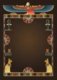 Египетские элементы предпосылки и дизайна иллюстрация вектора