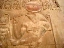 Египетские carvings Стоковое фото RF