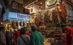 Египетский базар специи в Стамбуле Стоковое фото RF