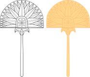 Египетский вентилятор Стоковое Изображение RF