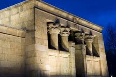 египетский висок Стоковое Фото