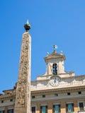 Египетский обелиск, Аркада di Montecitorio, Рим Стоковое Фото
