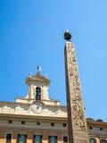 Египетский обелиск, Аркада di Montecitorio, Рим стоковая фотография rf