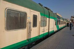 Египетский поезд Стоковое Изображение