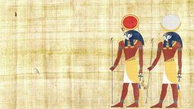 Египетский Ра и Khonsu богов видеоматериал
