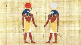 Египетский Ра и Khonsu богов сток-видео