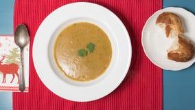 Египетский суп чечевицы стоковое фото rf
