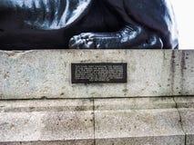 Египетский сфинкс в Лондоне, hdr Стоковое Изображение