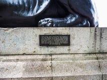 Египетский сфинкс в Лондоне (hdr) Стоковое Фото