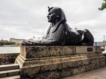 Египетский сфинкс в Лондоне (hdr) Стоковые Фотографии RF