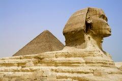 египетский сфинкс пирамидки Стоковая Фотография RF