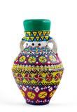 Египетский украшенный красочный сосуд гончарни (Kolla) Стоковое фото RF