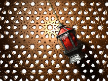египетский фонарик Иллюстрация вектора