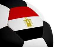 египетский футбол флага Стоковые Изображения