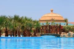 египетское заплывание курорта бассеина Стоковое Изображение RF