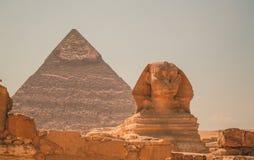 Египет, Каир; 19-ое августа 2014 - египетские пирамиды в Каире Стоковая Фотография