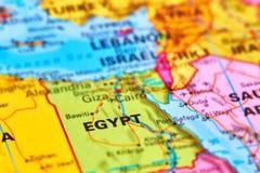 Египет на карте Стоковые Фото