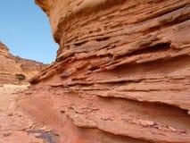 Египет покрашенный каньоном Стоковая Фотография