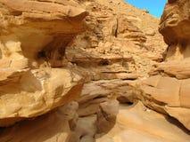 Египет покрашенный каньоном Стоковое Фото