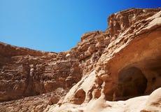 Египет покрашенный каньоном Стоковые Фото