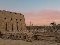 Египет, Северная Африка, висок Луксора, Karnak Стоковое Фото