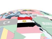 Египет с флагом на глобусе бесплатная иллюстрация