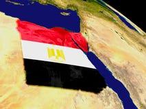 Египет с флагом на земле Стоковые Фото