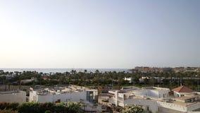 Египет, Sharm El Sheikh Одна из улиц Залив Naama Сентябрь 2015 sandstorm Стоковые Фотографии RF