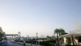 Египет, Sharm El Sheikh Одна из улиц Сентябрь 2015 sandstorm Стоковые Фото