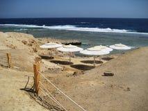 египтянин пляжа Стоковые Фото