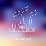 легко редактируйте иллюстрацию фабрики для того чтобы vector очень Стоковое Изображение RF