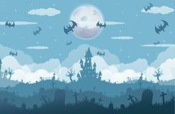легко редактируйте ночу изображения halloween для того чтобы vector Стоковые Изображения