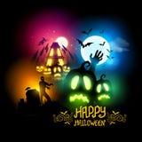 легко редактируйте ночу изображения halloween для того чтобы vector Стоковые Фотографии RF