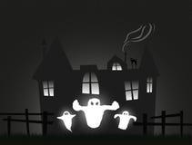 легко редактируйте ночу изображения halloween для того чтобы vector Стоковое Изображение RF
