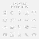 легко редактируйте покупку иконы установленную для того чтобы vector Стоковая Фотография