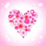 легко редактируйте сердце цветка к Иллюстрация штока
